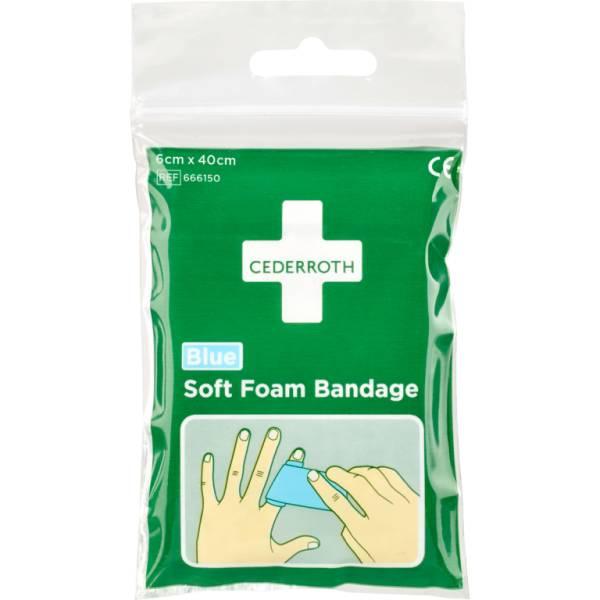 Cederroth Soft Foam Bandage Blue - Pocket Size