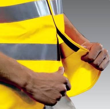 Warnweste gelb, mit Reflexstreifen