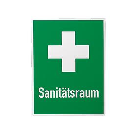 Rettungszeichen Sanitätsraum+Kreuz 400x300mm