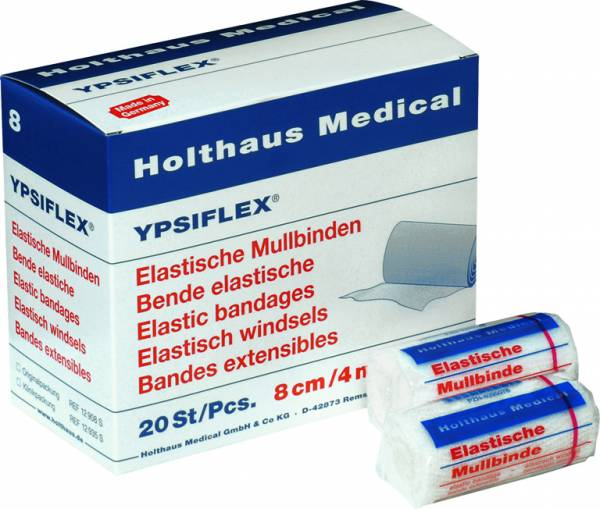 Holthaus Ypsiflex Elastische Mullbinde, weiß, 1Stk./Pkg.,