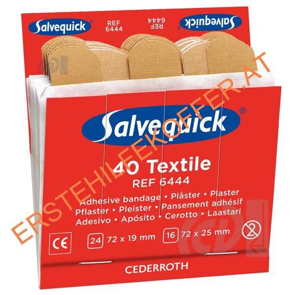 Salvequick Refill 6444, 40 elastische Pflasterstrips