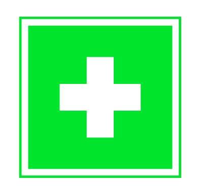 Rettungszeichen Erste Hilfe aus Kunststoff 200x200mm nachleuchtend