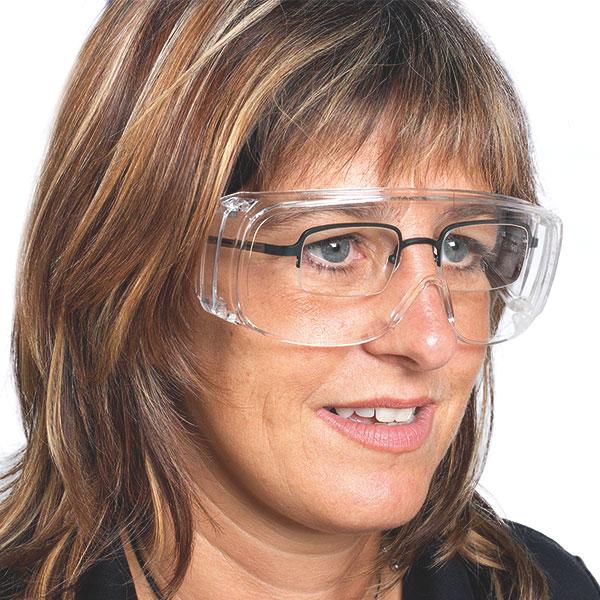 Schutz- und Überbrille aus farblosem Polycarbonat