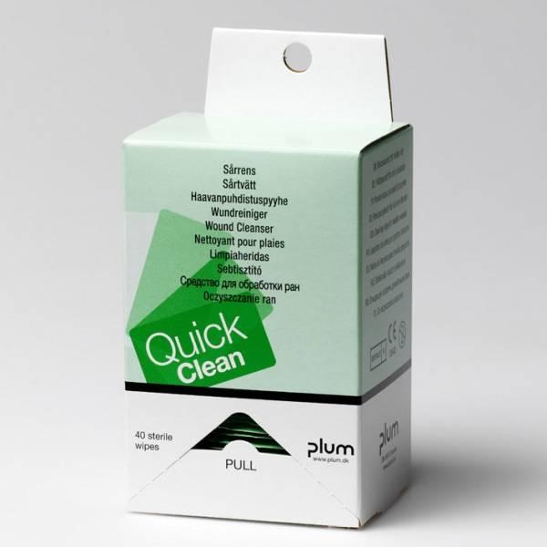 QuickClean Wundreinigungstücher Refill (40 Tücher)