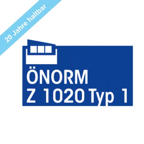 Komplettfüllung Typ 1 mit 20 Jahre haltbaren Sterilprodukten* gemäß ÖNORM Z 1020-1