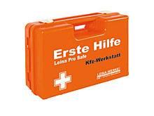 Erste Hilfe Koffer KFZ-Werkstatt ÖNORM Z Komplettfüllung plus branchenspez. Zusatz