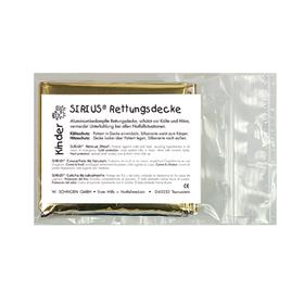 Kinder SIRIUS® Rettungsdecke silber-gold 160 x 120 cm