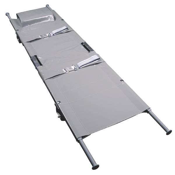 Aluminium-Krankentrage nach DIN 13024 N, Typ 1 mit 4 Gleitfüßen
