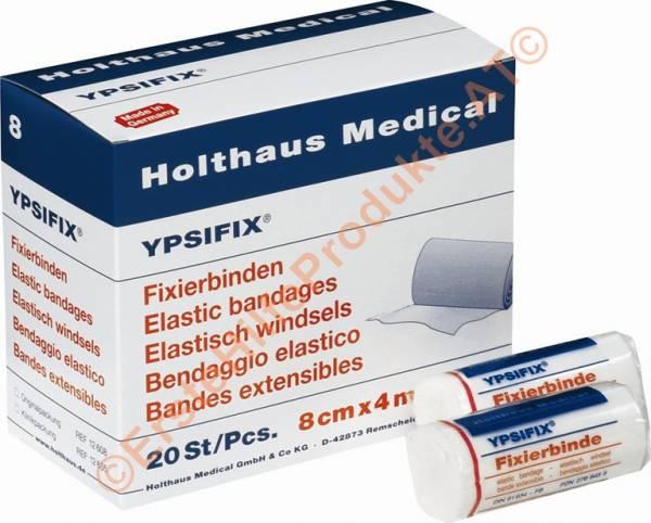Holthaus Ypsifix Fixierbinde, weiß, 1Stk./Pkg., 4cmx4m