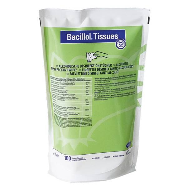 NACHFÜLLPACKUNG für Bacillol Tissues Desinfektionstücher Spenderdose (100 Tücher) - LAGERWARE -