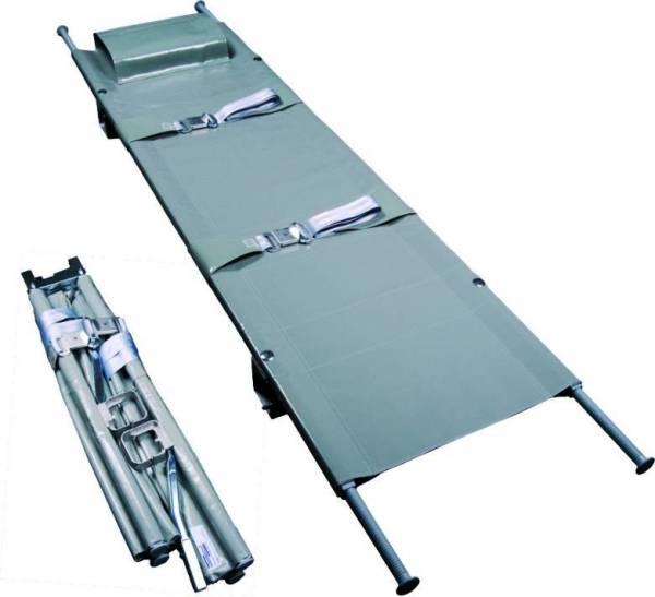 Krankentrage 2 x klappbar DIN 13024-K 2 Schnellverschlußgurte