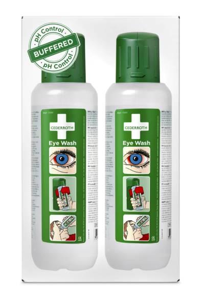 Cederroth Augenspülflasche 2 x 500 ml ph-neutral & phosphatfreie Spüllösung
