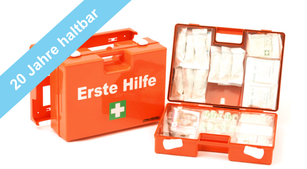 Erste Hilfe Koffer Typ 2 mit 20 Jahre haltbaren Sterilprodukten* ÖNORM Z1020-2