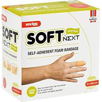Soft NEXT 6 cm x 4,5 m hautfarben - selbsthaftende Weichschaum-Bandage