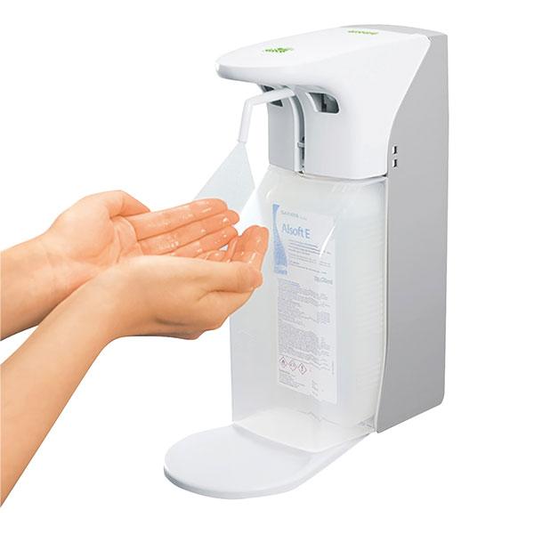 automatischer Seifen- und Desinfektionsmittelspender für 500 & 1000 ml Flaschen - LAGERWARE -