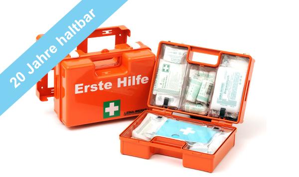 Erste Hilfe Koffer Typ1 mit 20 Jahre haltbaren Sterilprodukten* ÖNORM Z1020-1