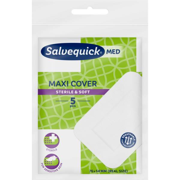 Salvequick Schnellverband Maxi Cover; 76x54mm