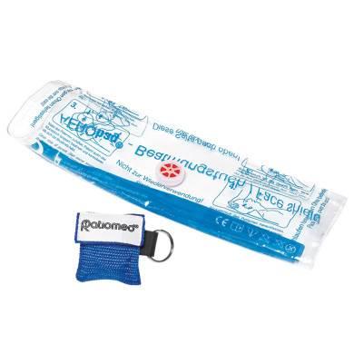 Einmal-Notfallbeatmungstuch ratiomed im Softcase blau