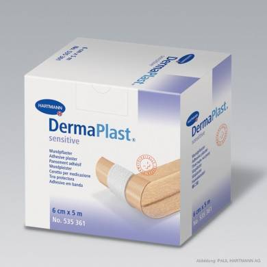 DermaPlast® sensitive 5 m x 6 cm Rollenpflaster
