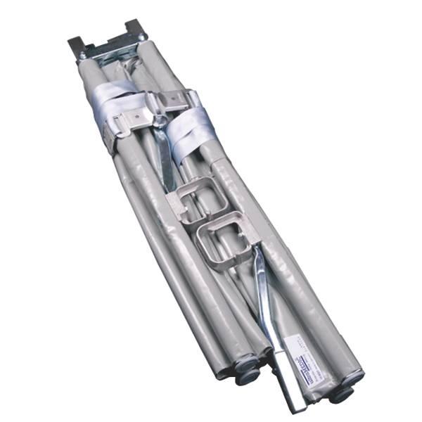 Aluminium-Krankentrage nach DIN 13024K Typ 2, mit 4 Rollenfüßen