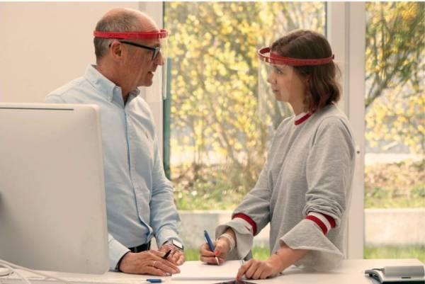 Gesichtsschutzschirm mit klappbarem oder feststellbarem Visier - LAGERWARE -