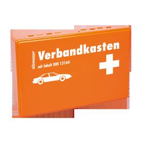 Söhngen KFZ-Verbandkasten KU orange mit Füllung Standard DIN 13164