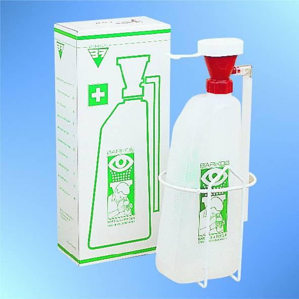 Barikos Augenspülflasche, gefllt mit 620 ml steriler Spüllösung, ca. 2 Jahre haltbar