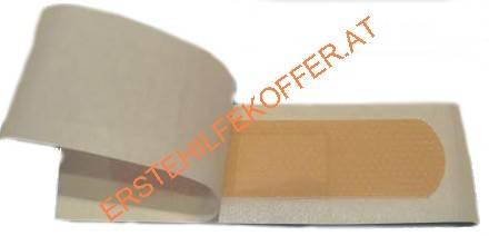 Pflasterstrips wasserfest, hautfarben, 50Stück: 1,9cm x 7,2cm