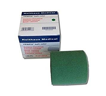 Holthaus Ypsifix haft color Fixierbinde, grün, 1Stk./Pkg., 8cmx20m