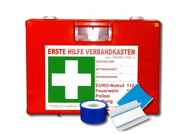 Erste Hilfe Koffer Gastronomie & Lebensmittel Typ 2 mit Füllung gemäß ÖNORM Z 1020