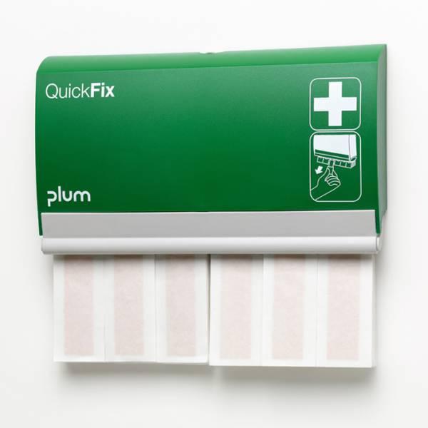 Plum QuickFix Pflasterspender mit 60 elastischen Fingerverbänden, 12x2cm