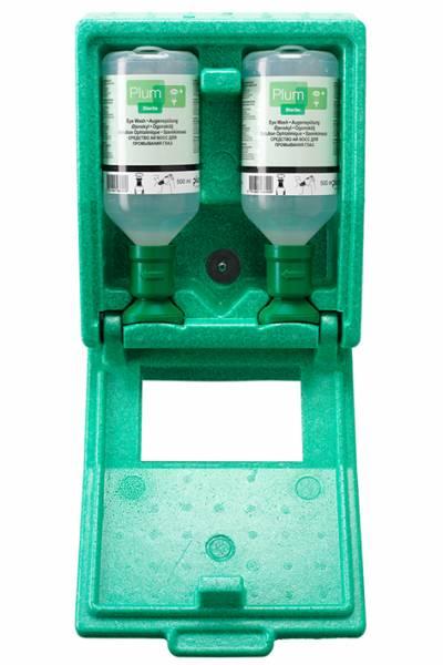 Plum Augenspülstation mit 2 Flaschen, in Wandbox mit Spiegel