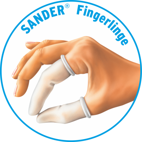 SANDER-Fingerlinge 7-fach NORMAL, 100 Stk./Pkg., farblos