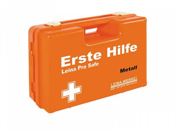 Erste Hilfe Koffer Metall inkl. ÖNORM Z 1020 Komplettfüllung und branchenspez. Zusat
