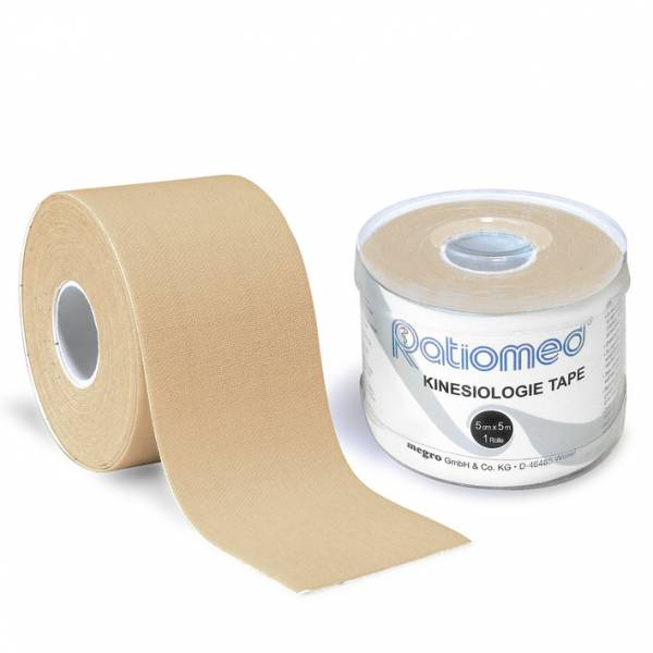 Kinesiologie-Tape ratiomed, beige, 1Stk./Pkg., 5mx5cm