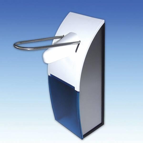 EURO-Dosierspender 500 ml mit blauer Frontscheibe - LAGERWARE -