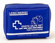 Erste-Hilfe-Set für Haustiere, 155x50x110mm, blau