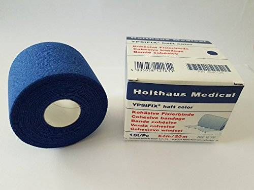 Fixierbinde haft color blau 8 cm x 20 m, 1 Stück Holthaus Ypsifix