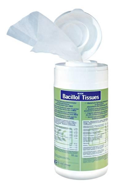 Bacillol Tissues Desinfektionstücher Spenderdose (100 Tücher) - LAGERWARE -
