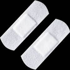 Pflasterstrips hypoallergen, weiß, 100 Stück, 2,5 x 7,2 cm, einzeln verpackt