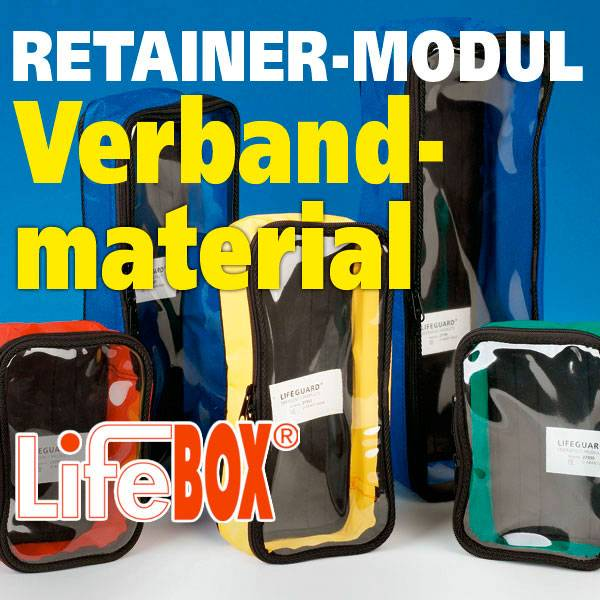 Lifebox Retainer Modul Verbandmaterial