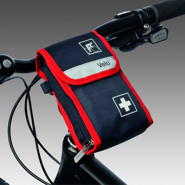 VELO Fahrrad Verbandtasche mit 2 Tankas und Füllung