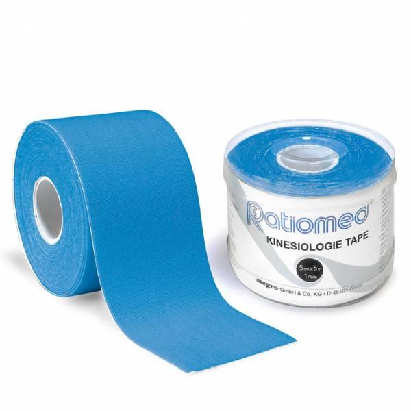 Kinesiologie-Tape ratiomed, blau, 1Stk./Pkg., 5mx5cm