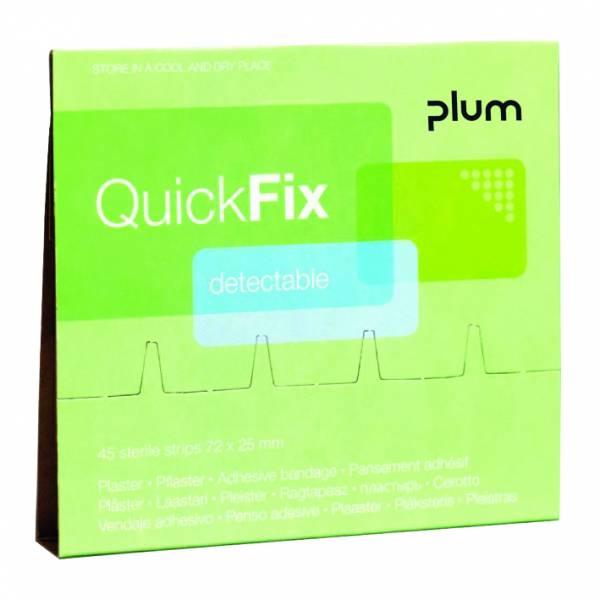 Plum QuickFix Pflasterspender Nachfüllpacks 45 detectable Pflaster