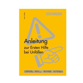 Söhngen Anleitung Erste-Hilfe Heftform gelb