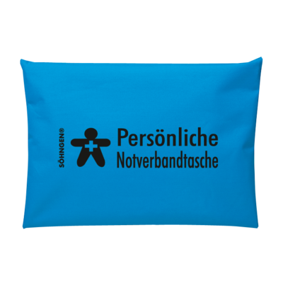 Persönliche Notverbandtasche blau