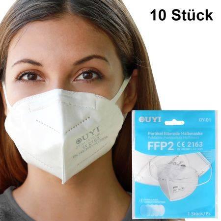 FFP2 Atemschutzmaske Weiss - STEUERFREI!