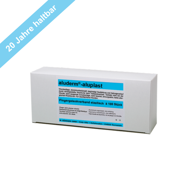 Söhngen aluderm®-aluplast Fingergelenkverband elastisch weiß 100 Stück, 4,3x7,2cm