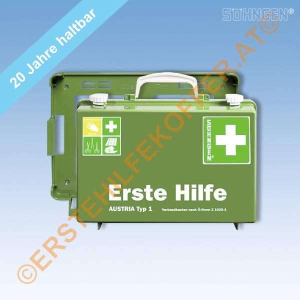 Söhngen Erste Hilfe Koffer Typ 1 grün mit Füllung ÖNORM Z 1020-1