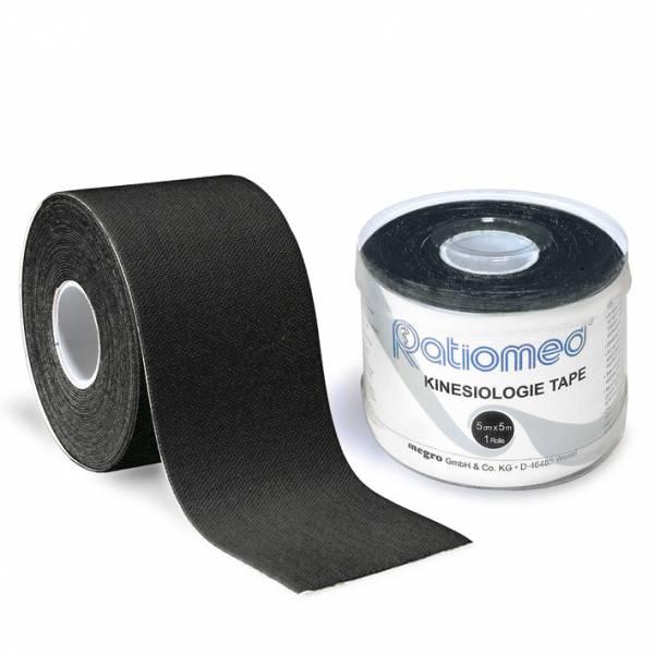 Kinesiologie-Tape ratiomed, schwarz, 1Stk./Pkg., 5mx5cm
